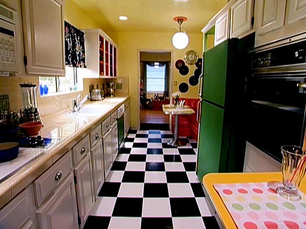 black and white kitchen floors | kate collins interiors