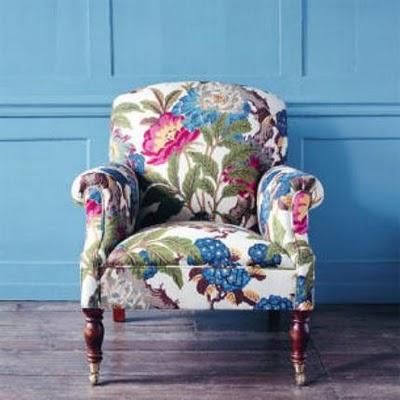 Fauteuil Met Bloemenstof.Flirty Florals For Your Home Kate Collins Interiors