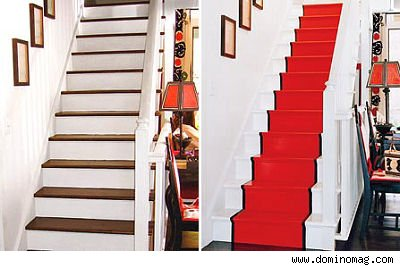 Painted staircases kate collins interiors for Painted stairs with runner