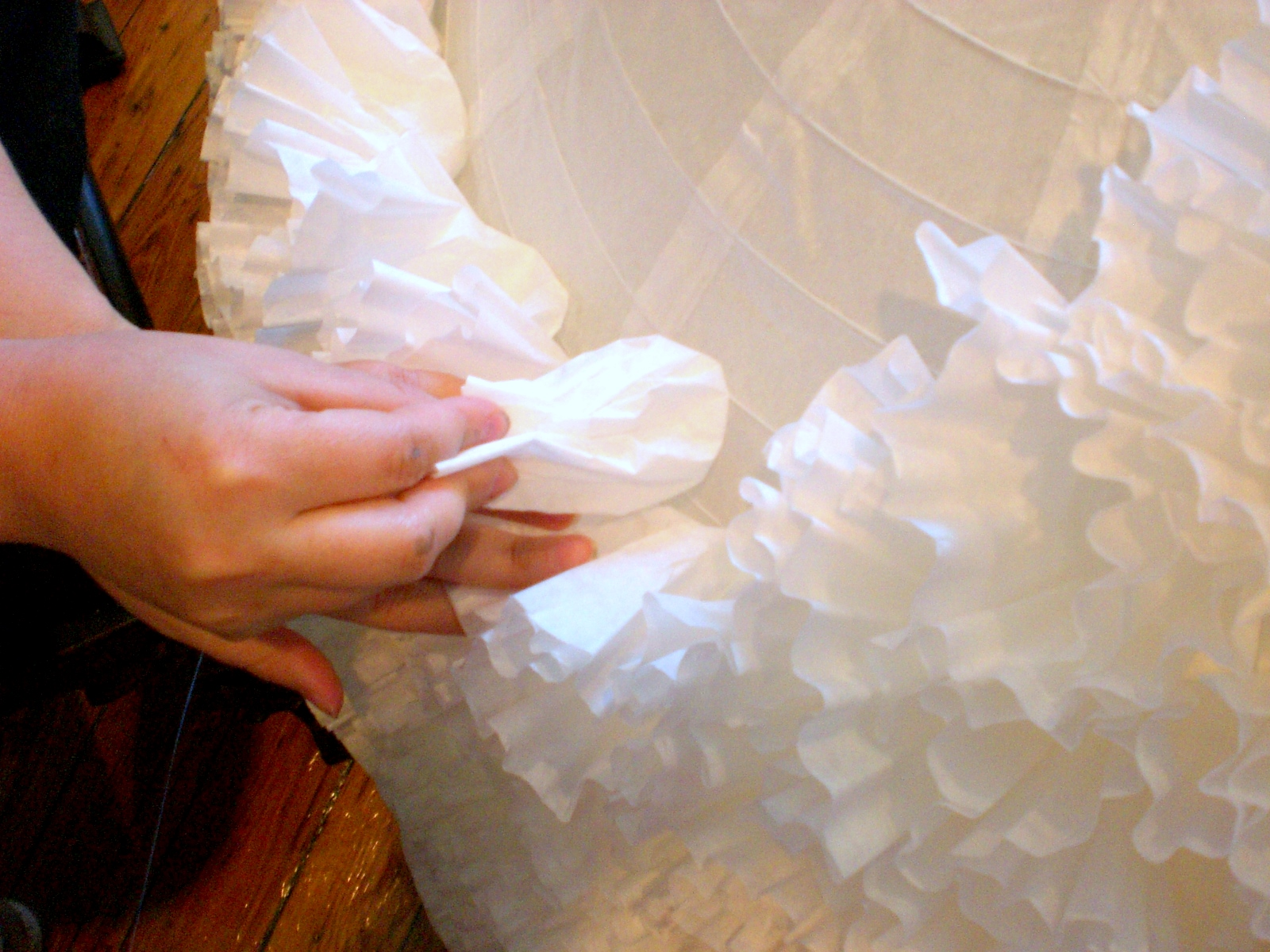 Coffee filters paper lantern and patience kate collins for Diy paper lanterns