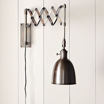 Swing Arm Wall Sconce West Elm : Swing Arm Sconces Kate Collins Interiors