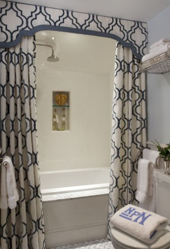 Dramatic Shower Curtains Kate Collins Interiors