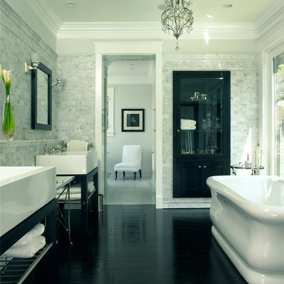 Hardwood Floor In The Bathroom Kate Collins Interiors
