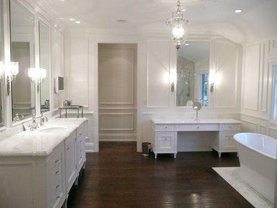 hardwood floor in the bathroom kate collins interiors